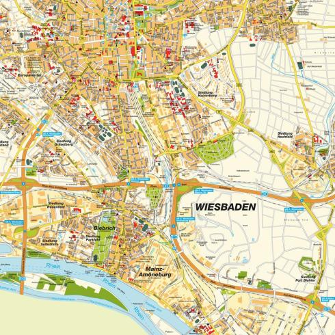 Wiesbaden Map
