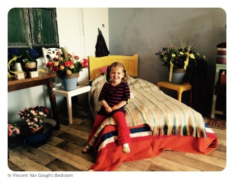 This year's Keukenhof theme is Van Gough. Neve just loved his bedroom- ie. would've loved jumping on his bed!