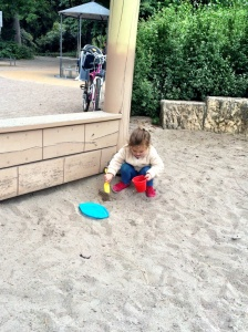 All the kids here bring their sand toys to the playgrounds. So we got some of our own!