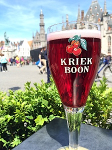 Lambic Beer- a Belgian fruit beer (tasted alot like wine to me...)