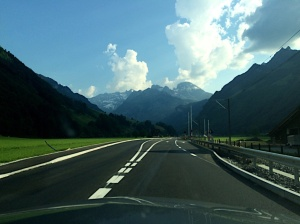 The drive to Switzerland...