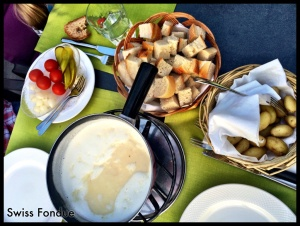 Fondue- Always one of our favorite meals! And it can't get any better than in Switzerland!
