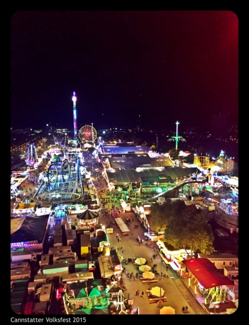 Volksfest from the top of the Ferris Wheel