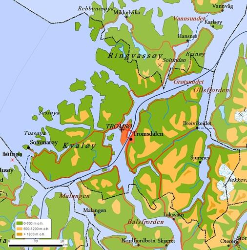 Ice Thomas Wanderings - Norway vegetation map